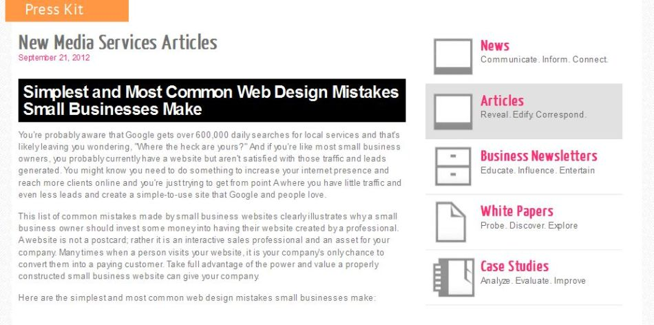 Simplest and Most Common Web Design Mistakes Small Businesses Make
